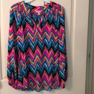 Lilly Pulitzer Elsa Chevron Blouse